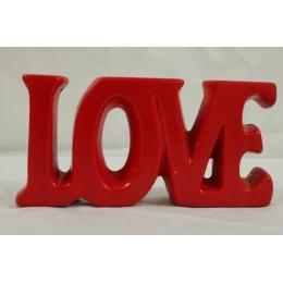 LOVE CERAMICA P VERMELHO