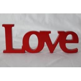 PALAVRA LOVE MDF VERMELHA