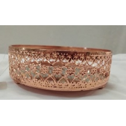 BAND METAL REDONDA ROSE GOLD  M