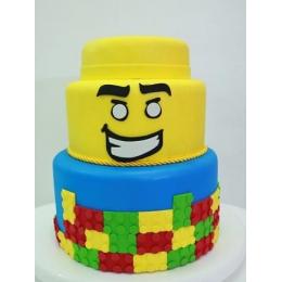 BOLO LEGO EM E.V.A