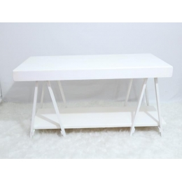 MESA CAVALETE 1,50 COM BASE INFERIOR BRANCO