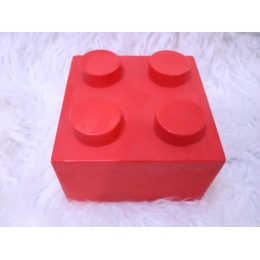 ENFEITE  LEGO VERMELHO 3D